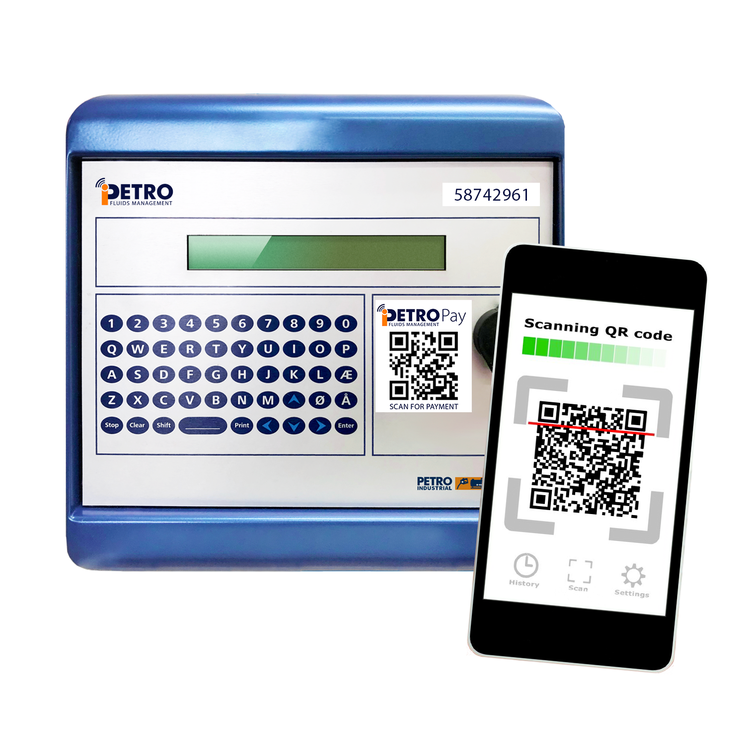 iPETRO Pay console with QR code